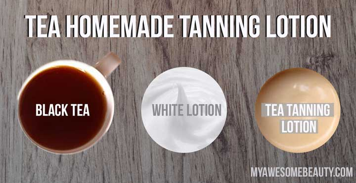 black tea tanning lotion