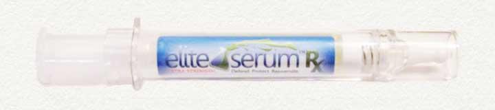 Elite serum syringe packaging