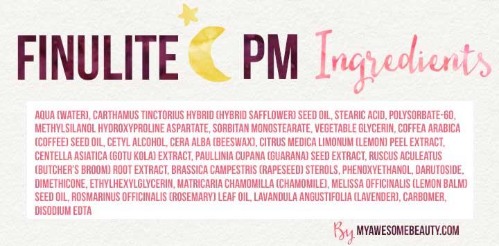 Finulite night cream ingredients