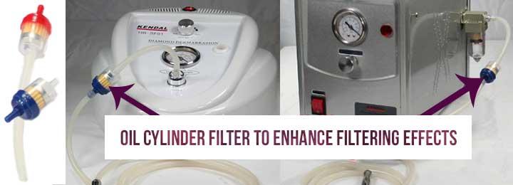 oil cylinder filter position
