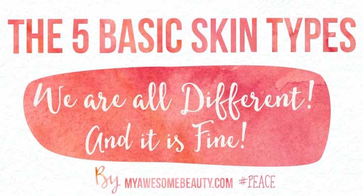 5 basic skin types