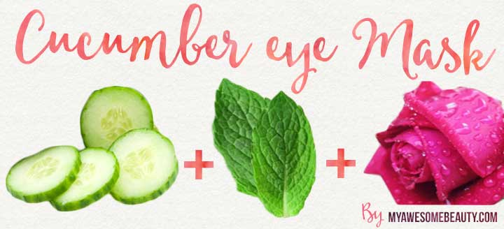 cucumber eye home mask