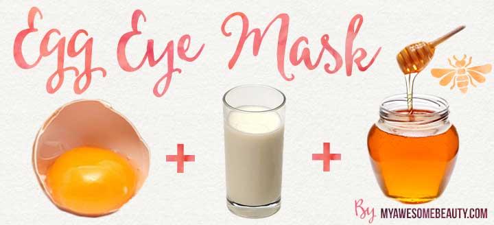 egg eye homemade mask