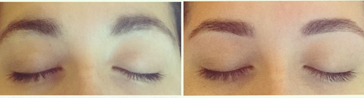 eyebrow threading before after