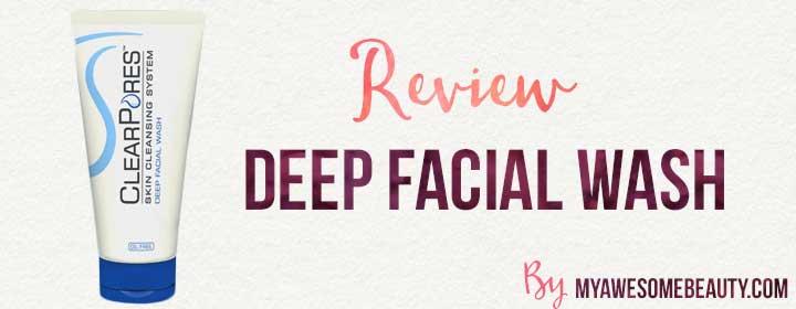 clearpores deep facial wash