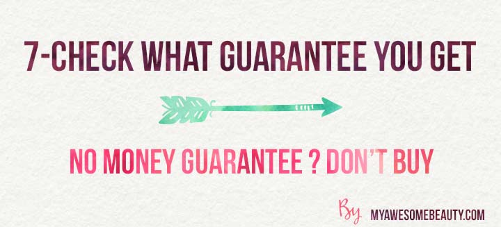 check what guarantee you get