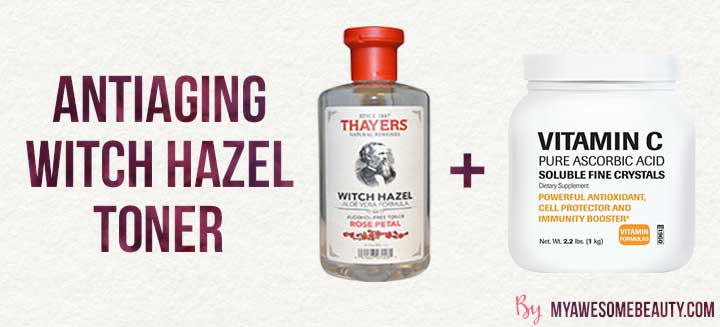 antiaging witch hazel toner
