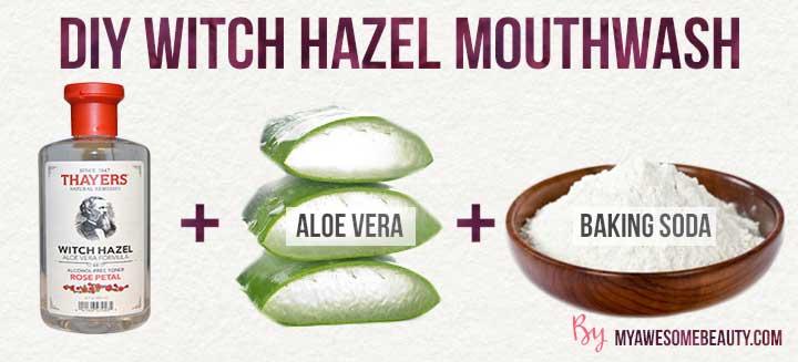 DIY witch hazel mouthwash