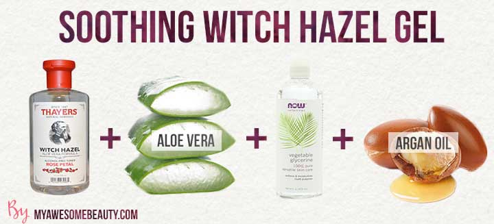 soothing witch hazel gel