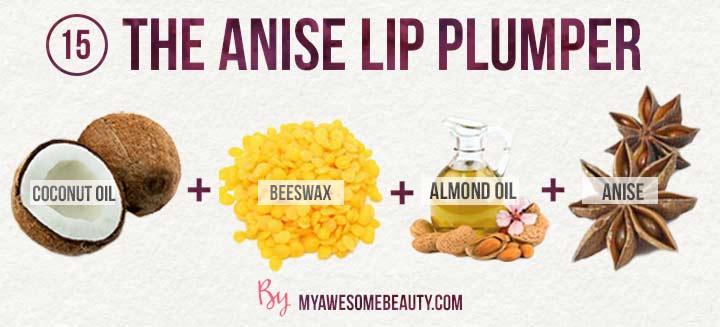 The anise lip plumper