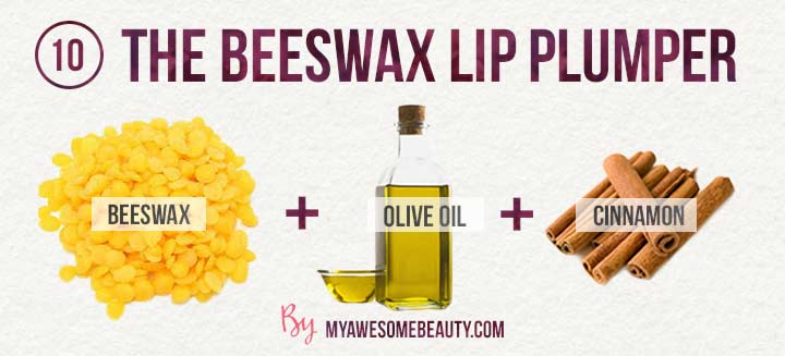The beeswax lip plumper