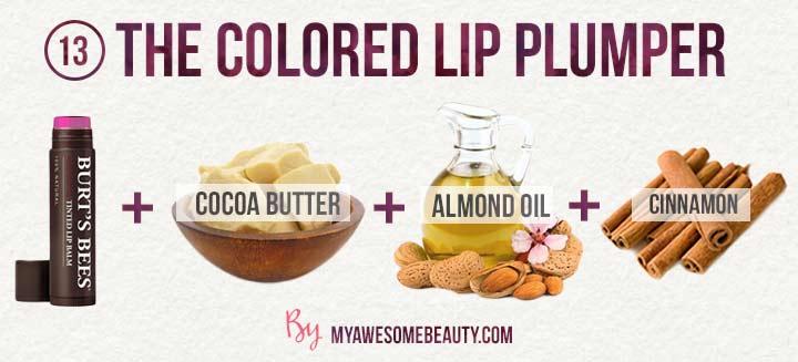 The colored lip plumper