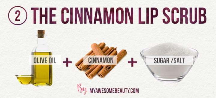 The olive cinnamon lip scrub