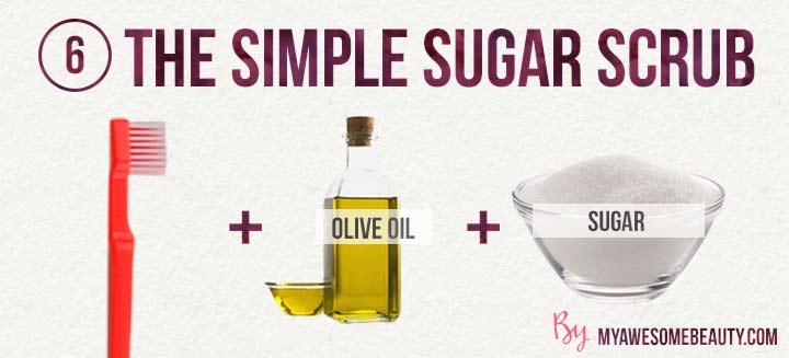 The simple sugar lip scrub