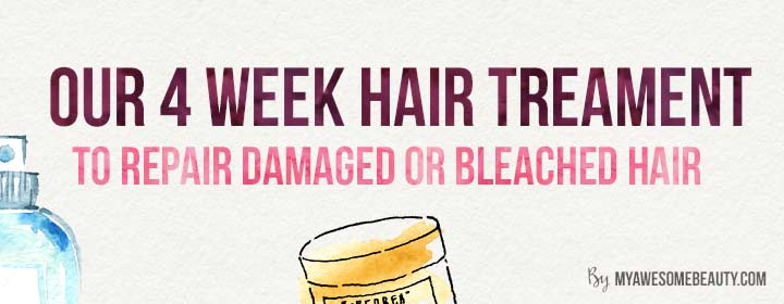 our 4 week hair repairing treatment to repair bleached hair