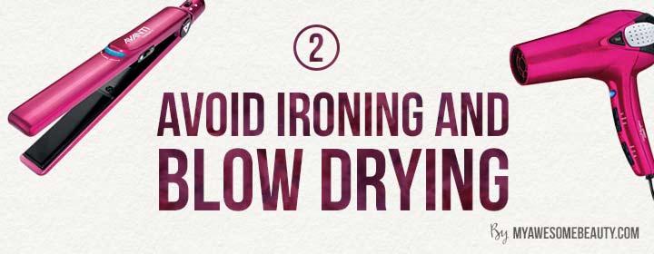 avoid hair ironing