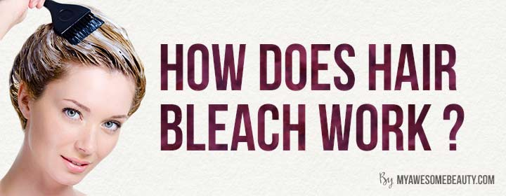 how does hair bleach work ?