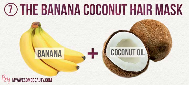 the banana coconut hair mask