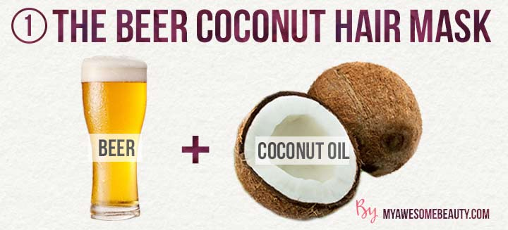 the beer coconut hair mask