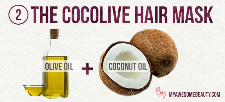 the coco olive hair mask