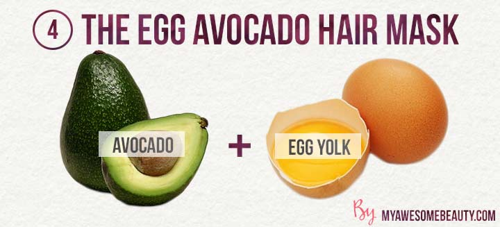 the egg avocado hair mask