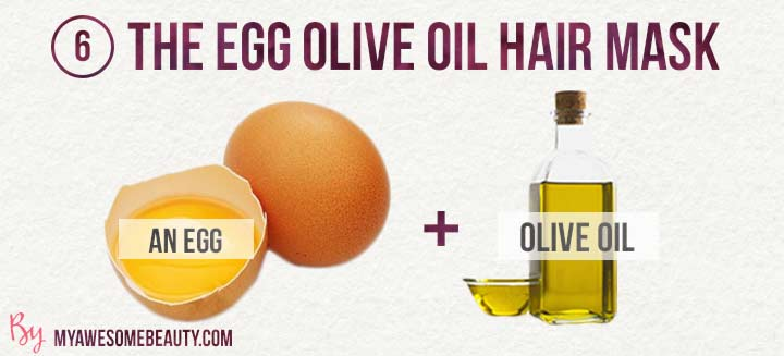 The egg olive oil hair mask