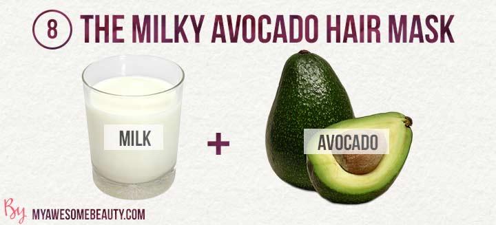 the milky avocado hair mask
