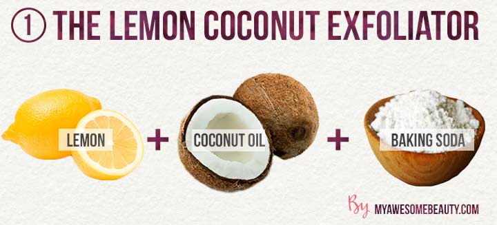 the lemon coconut exfoliator