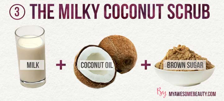 the milky coconut scrub