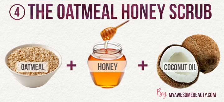 the oatmeal honey scrub