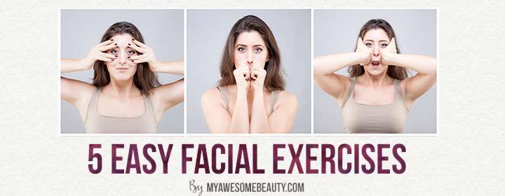 Easy facial exercises
