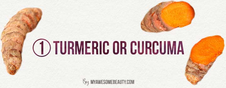 Turmeric or curcuma