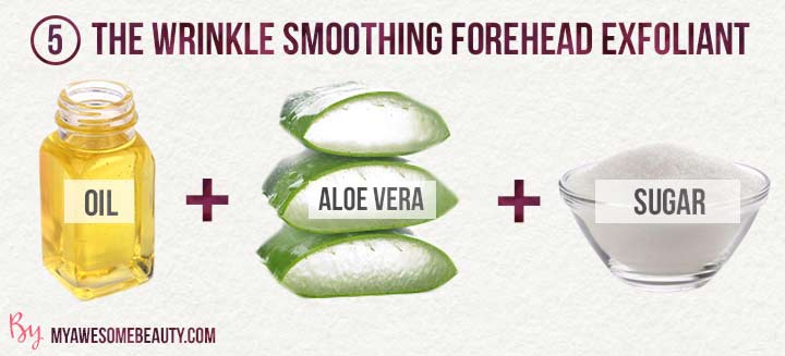 The Wrinkle Smoothing forehead Exfoliant