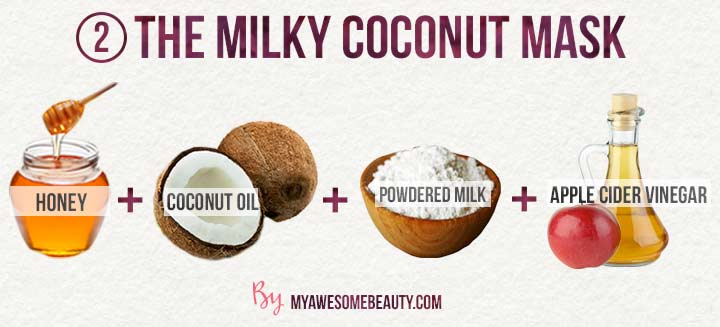 The milky coconut mask