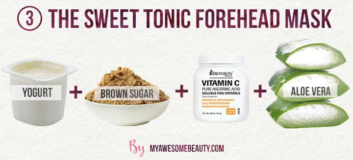 the sweet tonic forehead mask