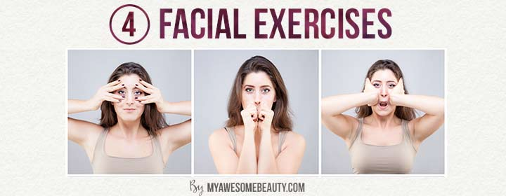 facial exercises for forehead