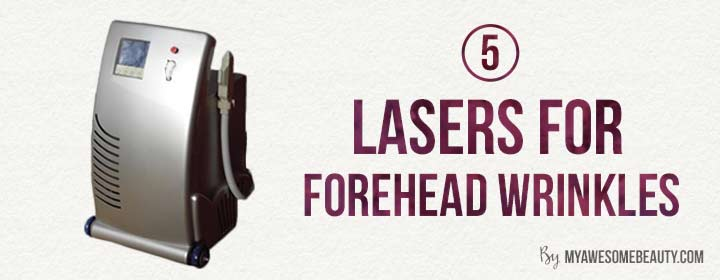 Lasers for forehead creases