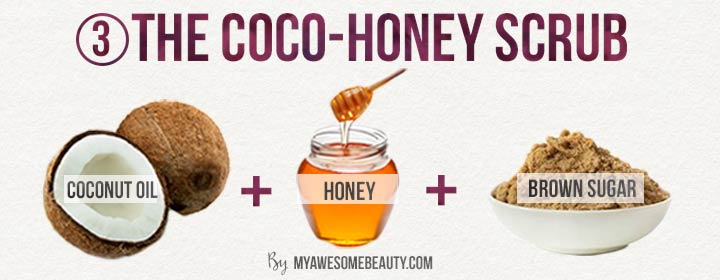 The antibacterial coco honey scrub