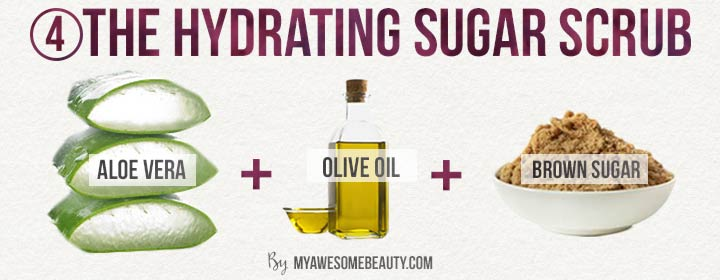 The hydrating sugar scrub