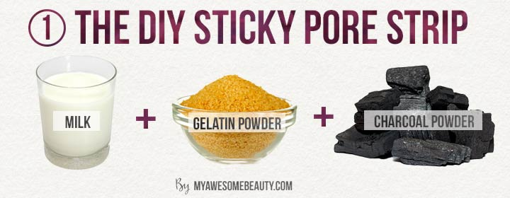The diy sticky pore strip