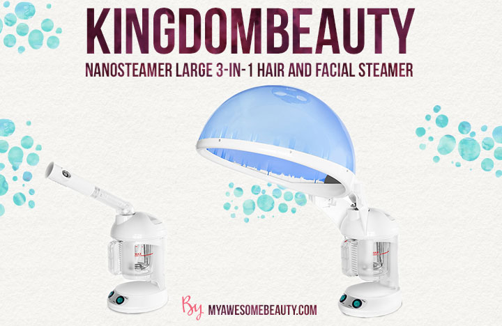 KINGDOMBEAUTY NanoSteamer Large 3-in-1 Hair and Facial Steamer