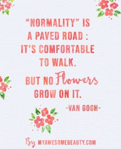 Normality is a paved road