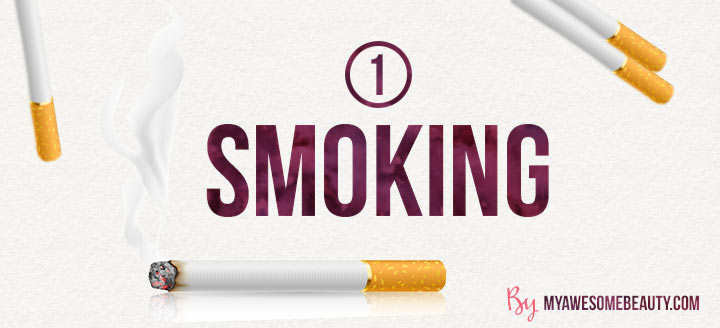 effects of smoking on skin