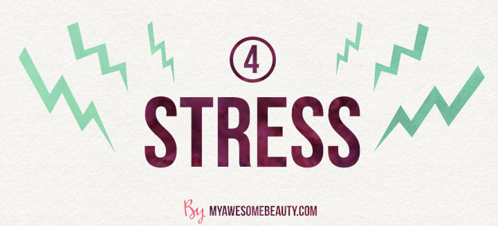 Effects of stress on skin