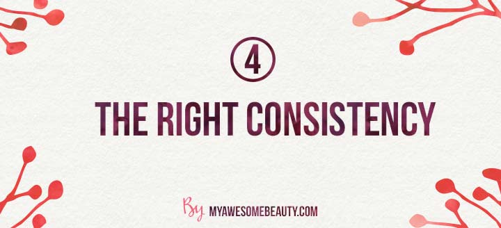 The right scar gel consistency