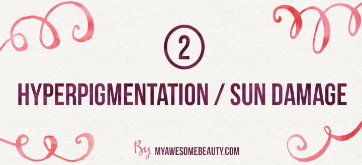 hyperpigmentation and sun damage