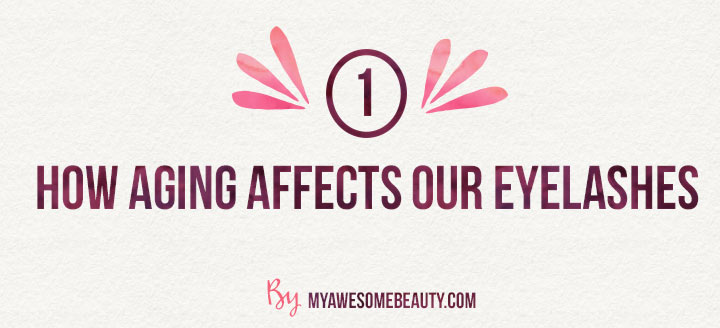 How aging affects eyelashes