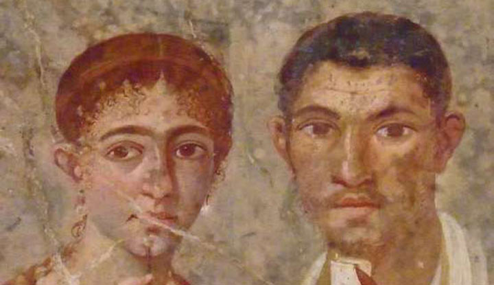 ancient rome makeup on woman and man