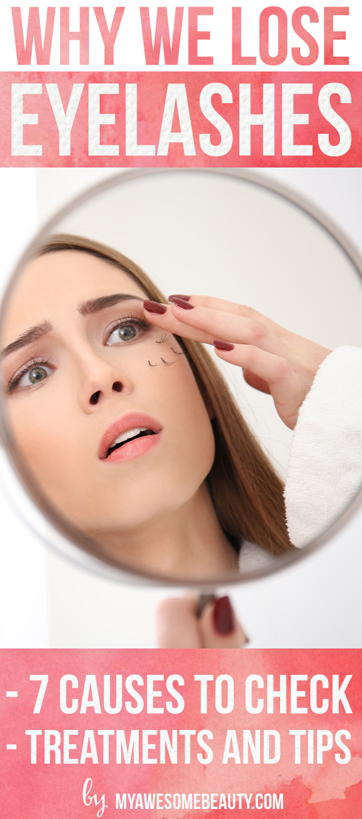 Causes of eyelash loss
