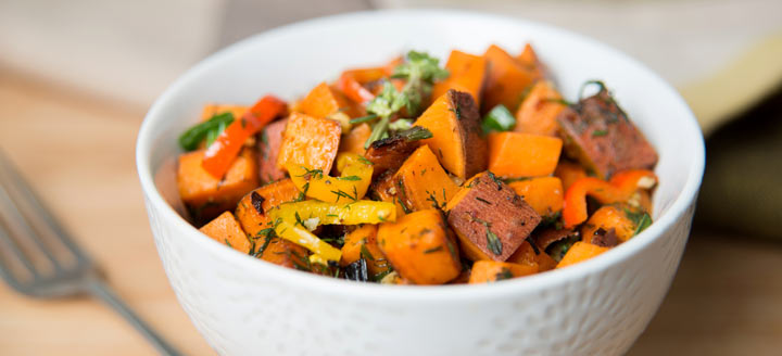 sweet potatoes with herbs